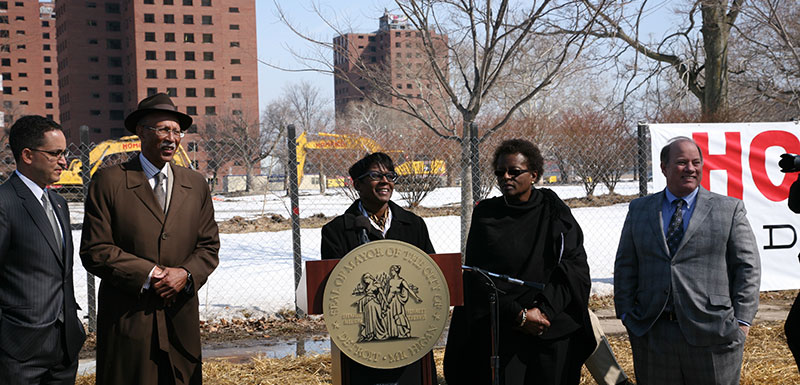 News Conference for the Final Phase in the Demolition of the Frederick Douglass Homes