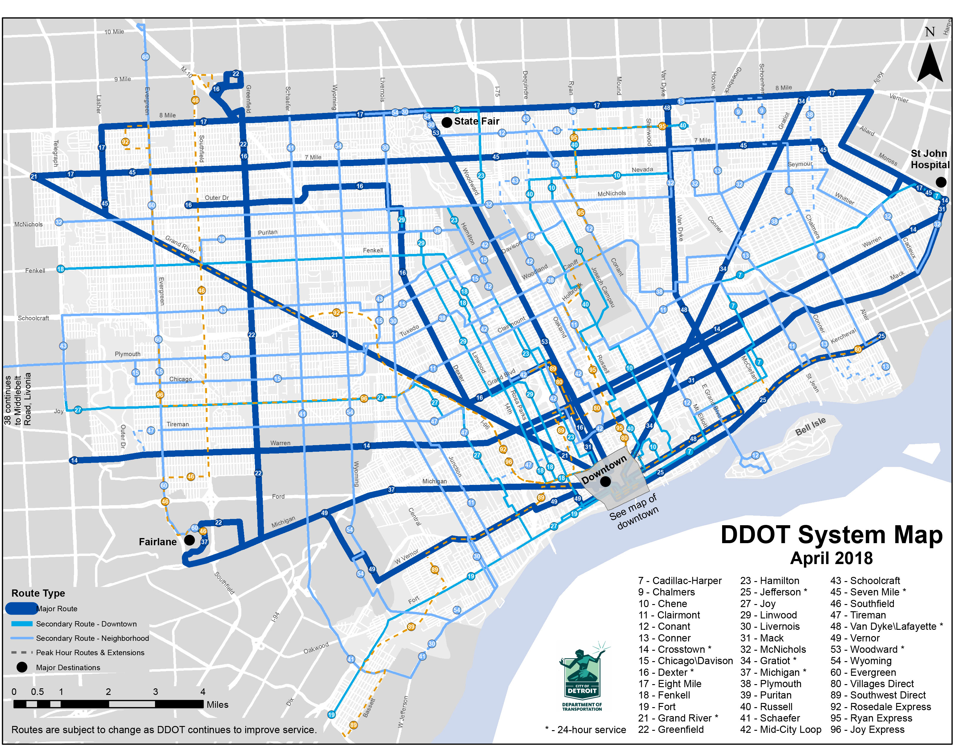 Bus Schedules Find Transportation How Do I City of Detroit