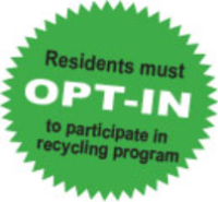 Residents must opt-in to participate in recycling program