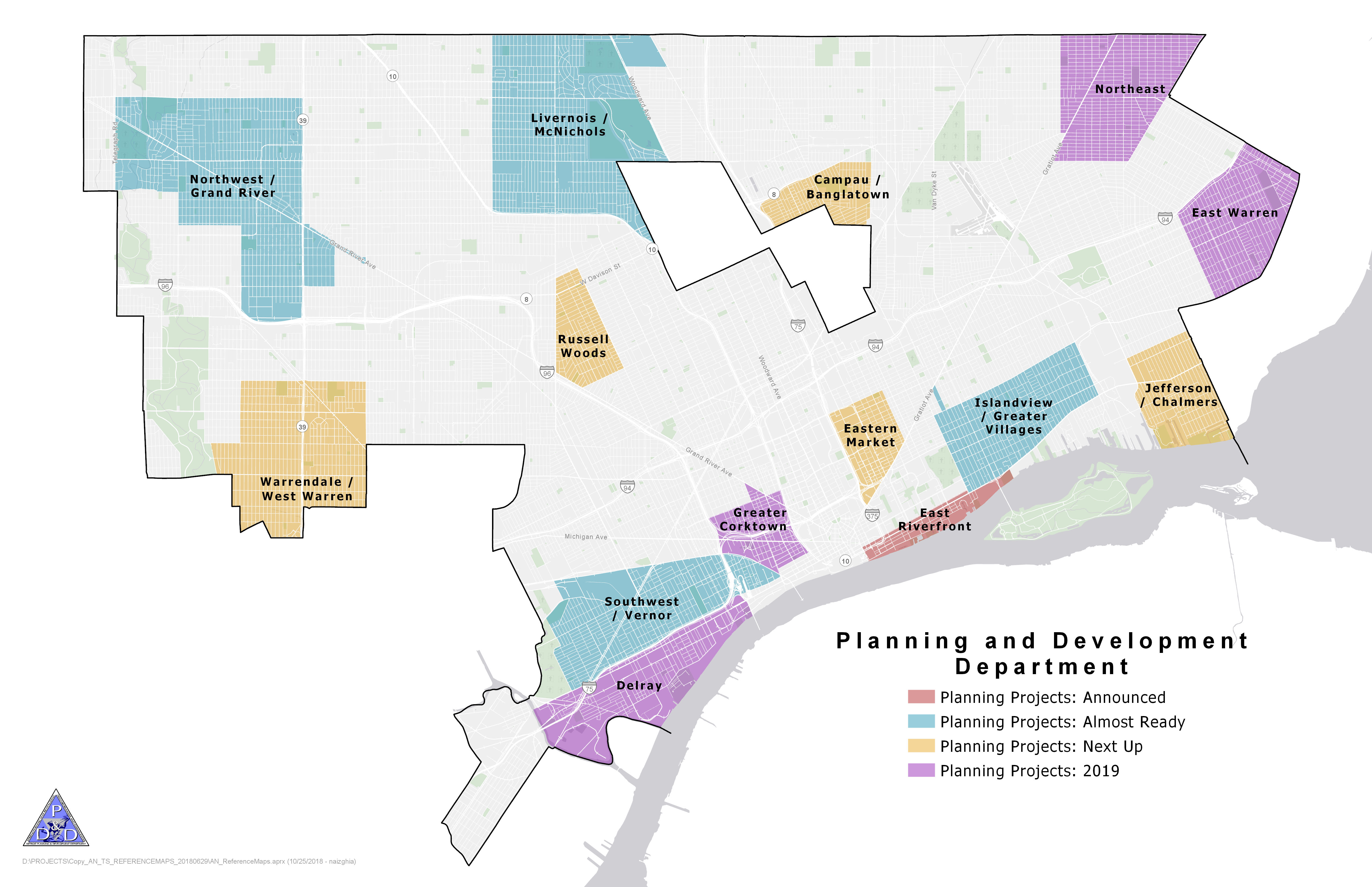 Citywide Development Projects Map