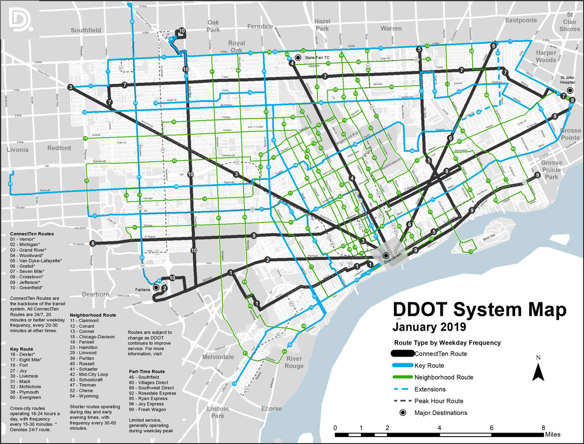 DDOT System Map | City of Detroit on