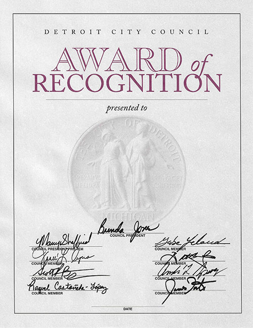 Award of Recognition