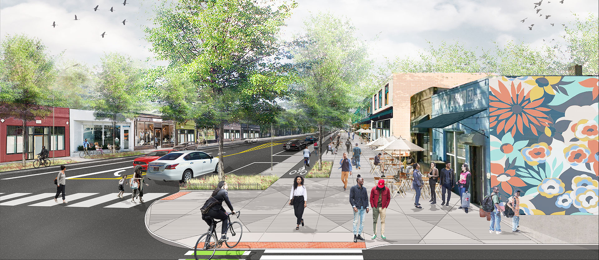 Livernois Streetscape Rendering