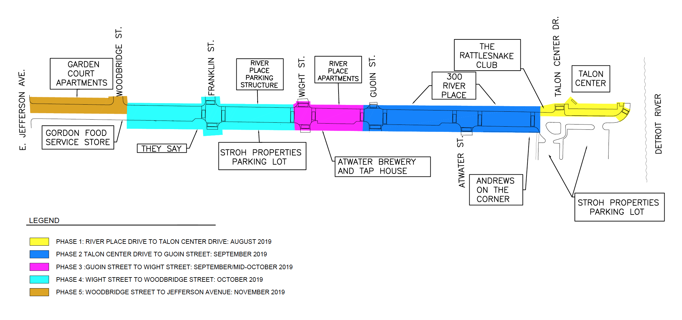 Joseph Campus Streetscape Construction Timeline