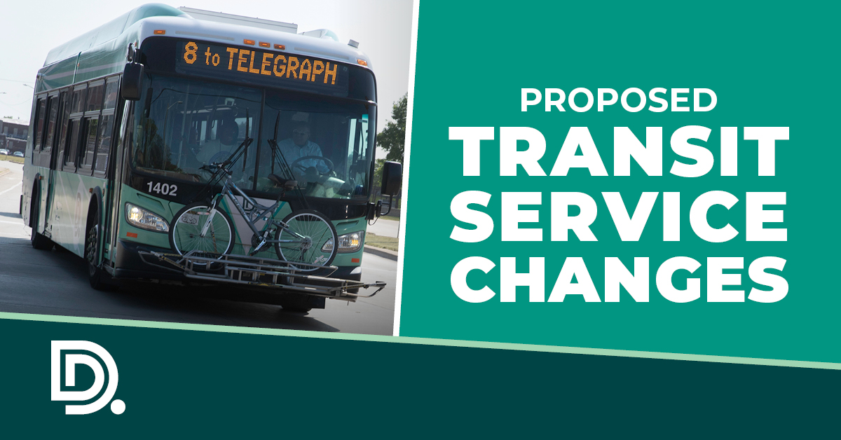 Proposed Transit Service Changes