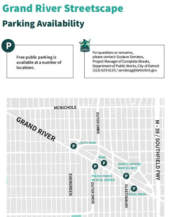 Grand River Parking Map