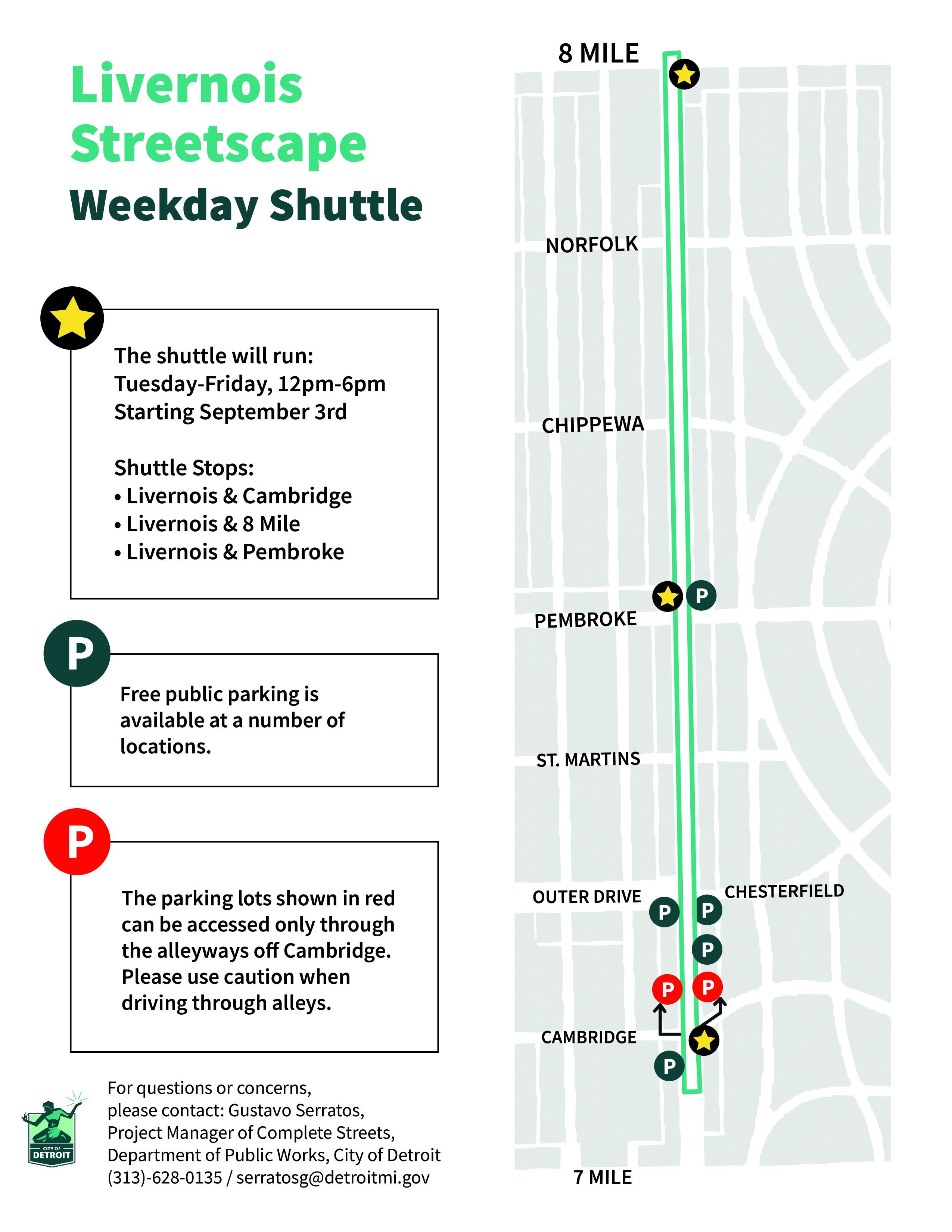 Livernois Weekday Shuttle