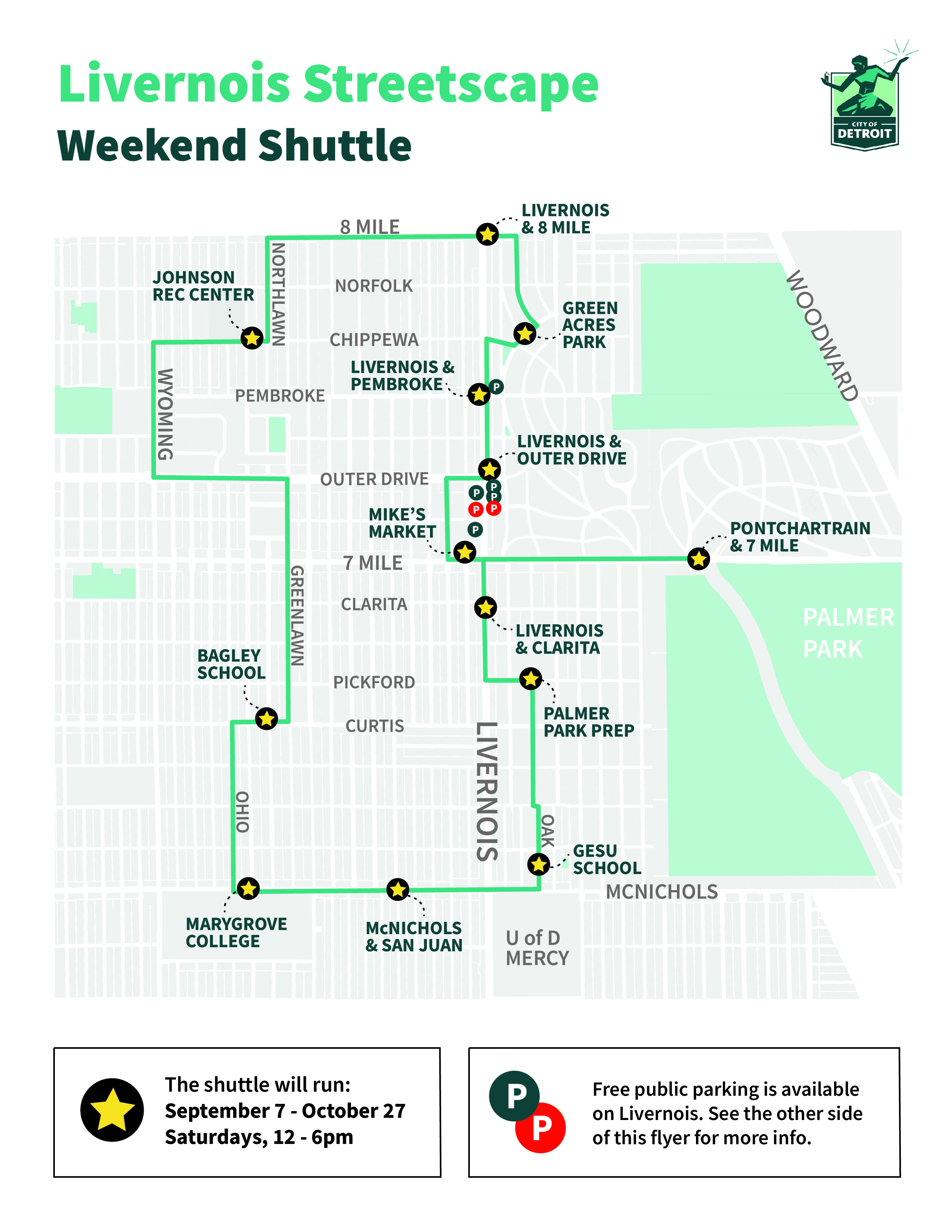 Liverrnois streetscape weekend shuttle