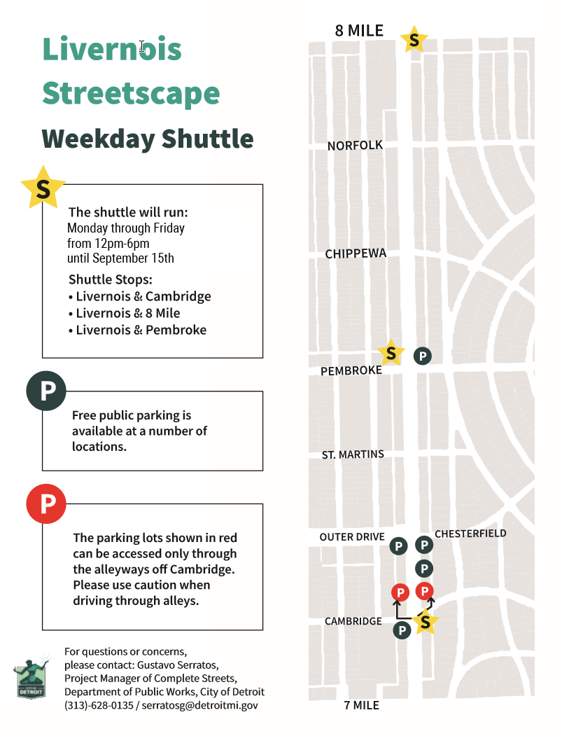 Livernois Streetscape Weekday Shuttle