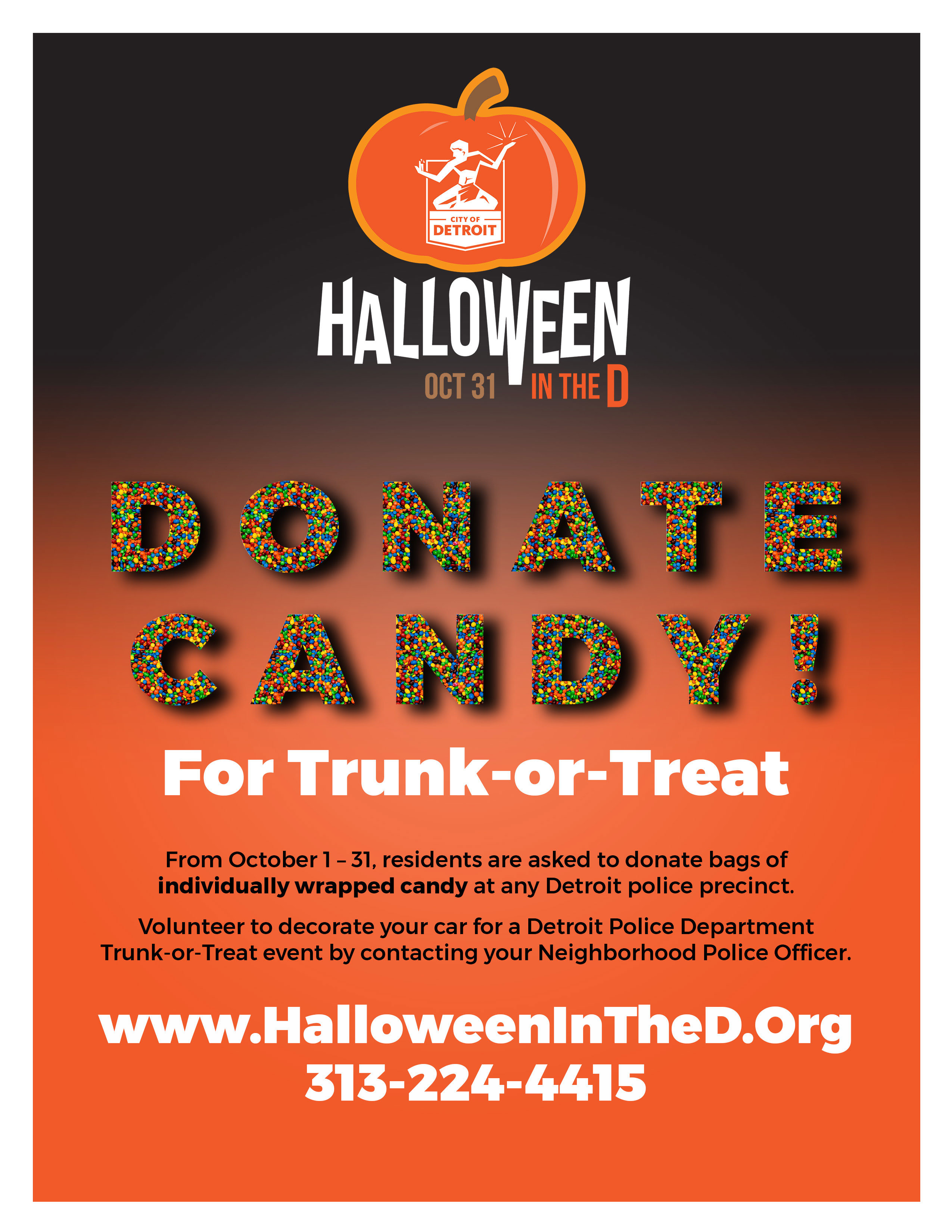 Candy Donation Flyer