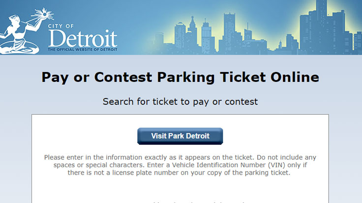 pay or contest parking ticket