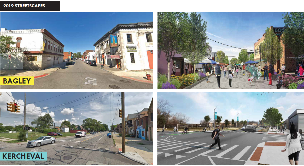 Bagley and Kercheval Streetscape Projects