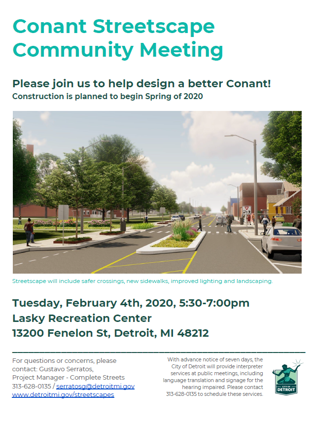 Conant Streetscape Project Community Meeting #3
