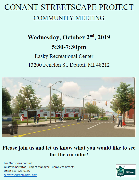 Conant Streetscape Community Meeting #1
