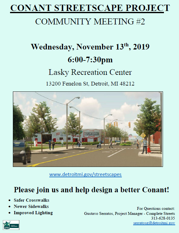 Conant Streetscape Community Meeting #2