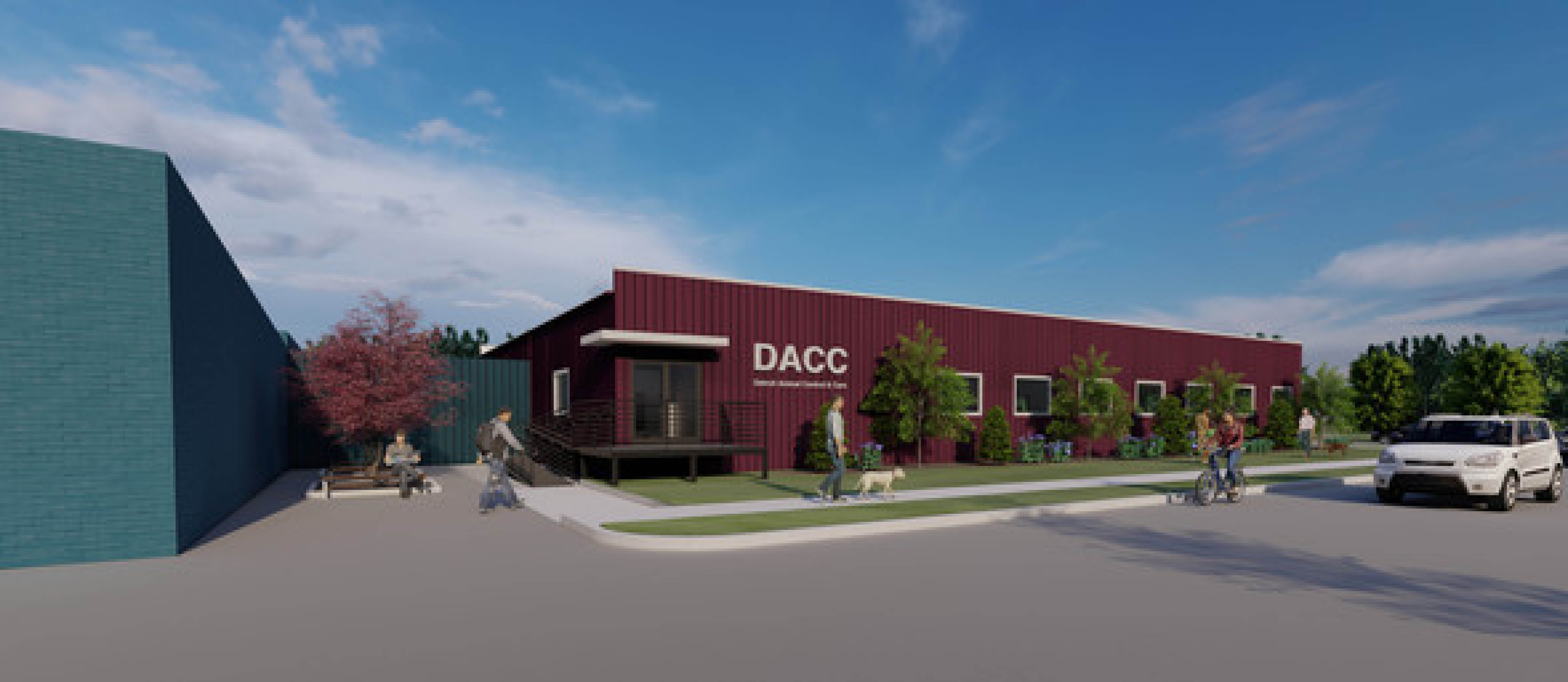 Rendering of the new DACC facility