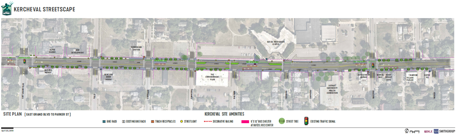Kercheval Streetscape Proposed Layout