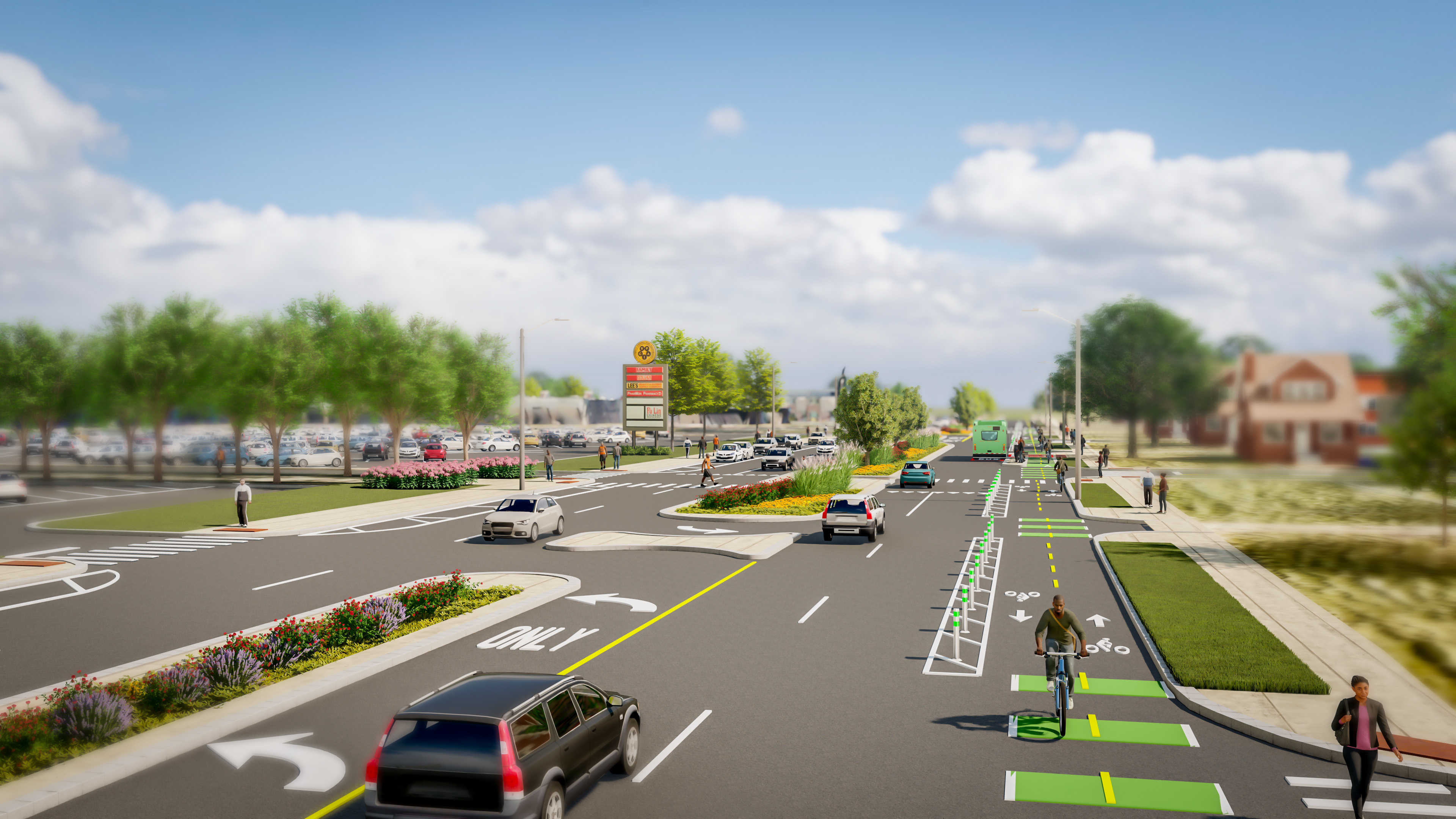 Rosa Parks Streetscape Project Rendering 2