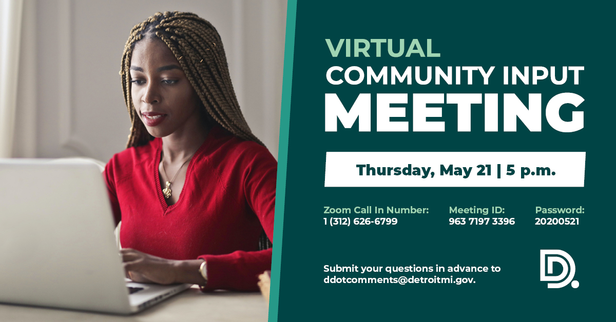 DDOT Virtual Community Input Meeting