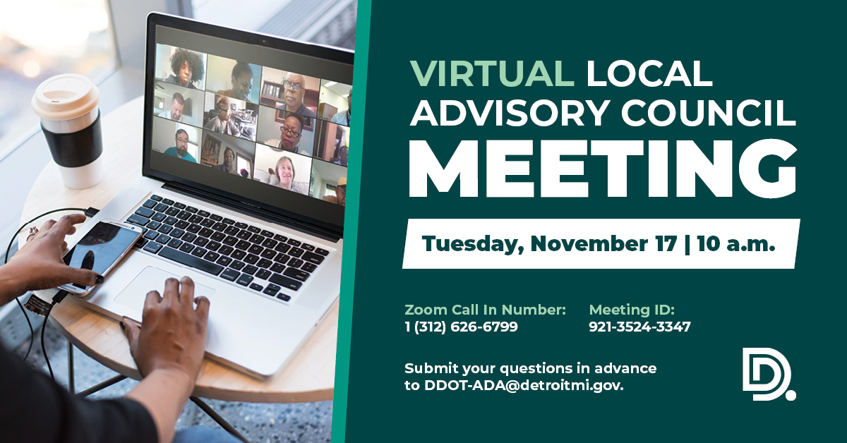 DDOT Virtual Local Advisory Council Meeting