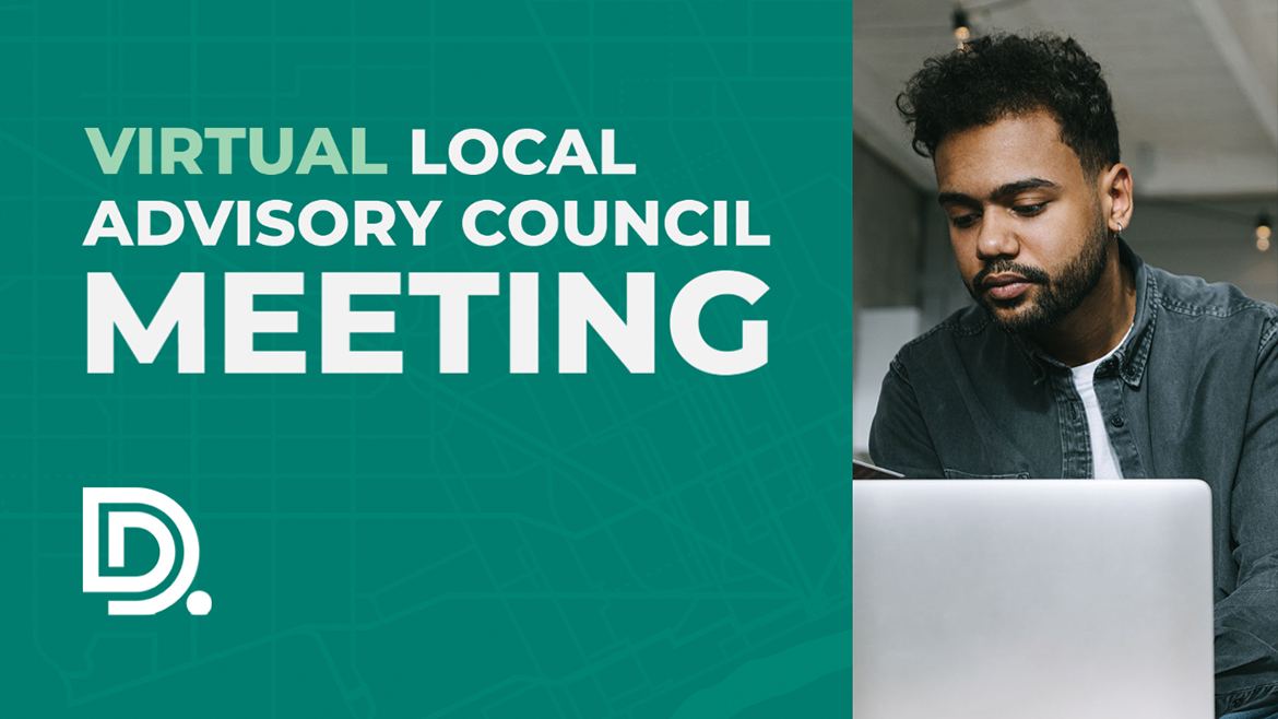 Banner image of for the DDOT Virtual Local Advisory Council Meeting