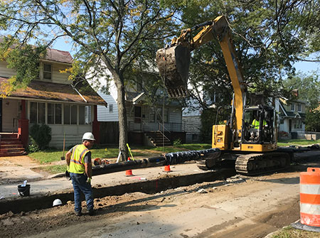 DWSD replaced the water main on Robson Street north of Grand River Avenue.