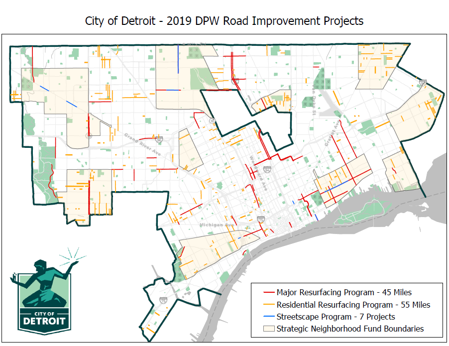 2019 Detroit DPW Road Construction Plans