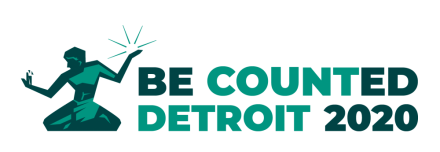 Be Counted Detroit: Census 2020 logo