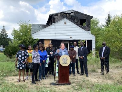 Press conference with Mayor Duggan