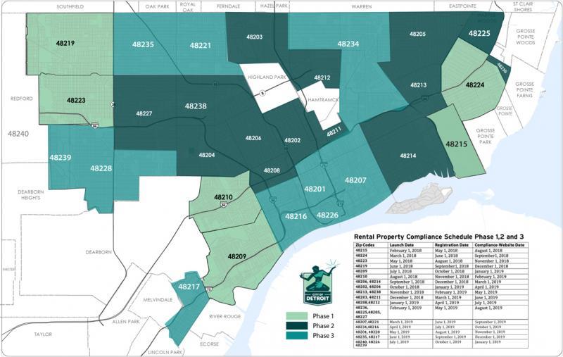 48201 Zip Code Map.Rental Property Information City Of Detroit