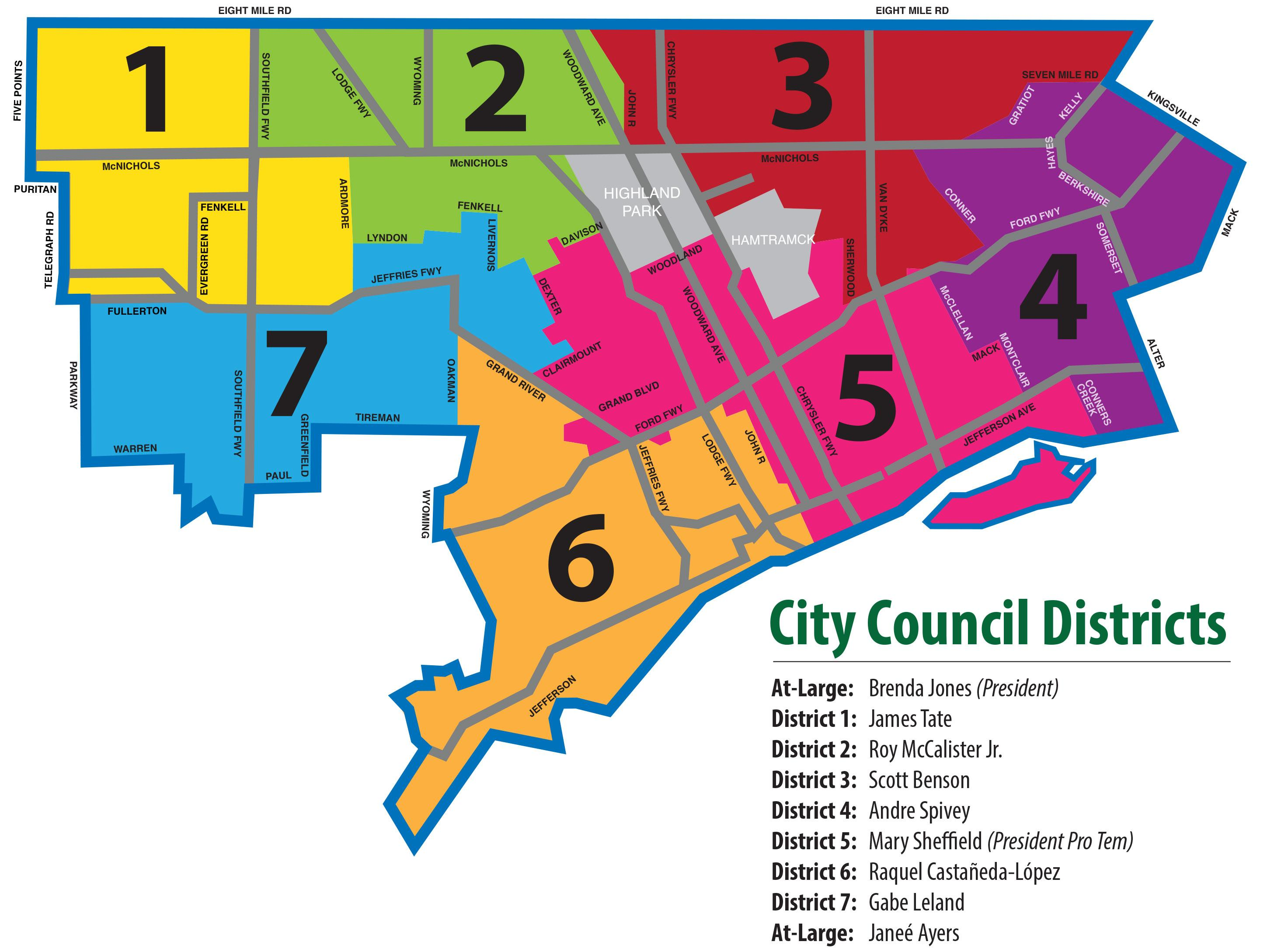 Council Districts Map